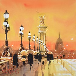 Paris Lights V by Peter J Rodgers -  sized 21x21 inches. Available from Whitewall Galleries